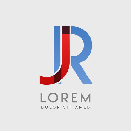 JR logo letters with blue and red gradation Иллюстрация