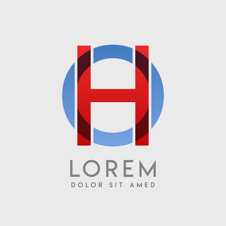 HO logo letters with blue and red gradation