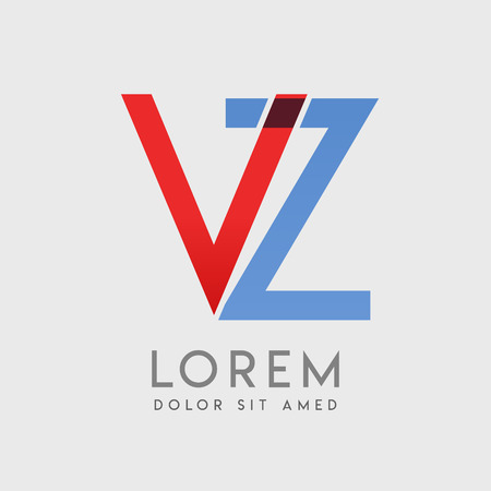 VZ logo letters with blue and red gradation