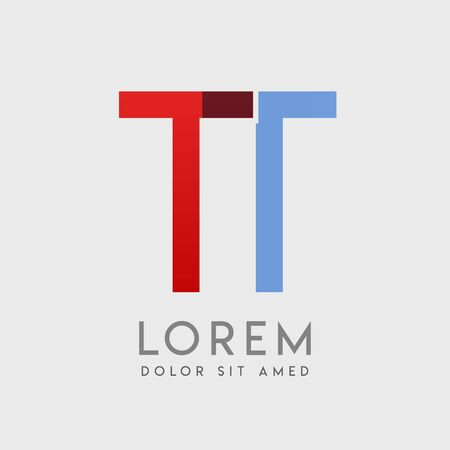 """TT logo letters with """"blue and red"""" gradation Logo"""