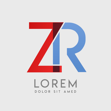 """ZR logo letters with """"blue and red"""" gradation Logó"""