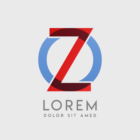 """ZO logo letters with """"blue and red"""" gradation"""