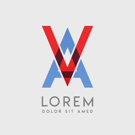 VA logo letters with blue and red gradation Illustration