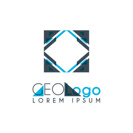 geometric logo with light blue and gray stacked for design 3.2