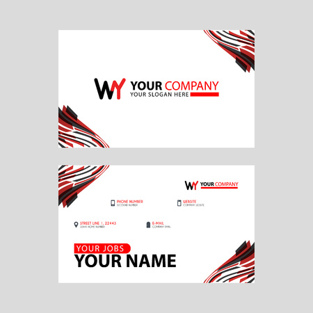 the WY logo letter with box decoration on the edge, and a bonus business card with a modern and horizontal layout.