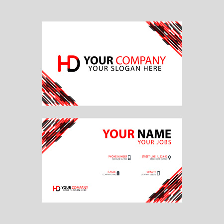 Logo HD design with a black and red business card with horizontal and modern design.