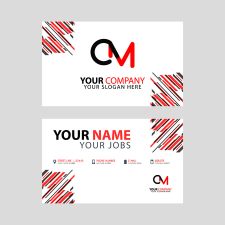 the CM logo letter with box decoration on the edge, and a bonus business card with a modern and horizontal layout.