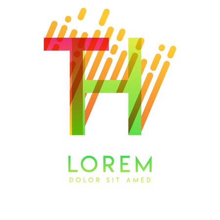 TH logo with the theme of galaxy speed and style that is suitable for creative and business industries. HT Letter Logo design for all webpage media and mobile, simple, modern and colorful