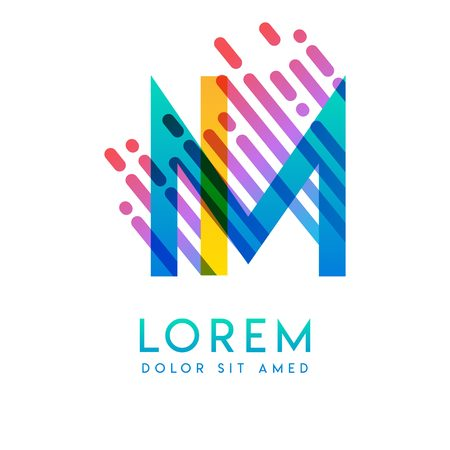 IM logo with the theme of galaxy speed and style that is suitable for creative and business industries. MI Letter Logo design for all webpage media and mobile, simple, modern and colorful