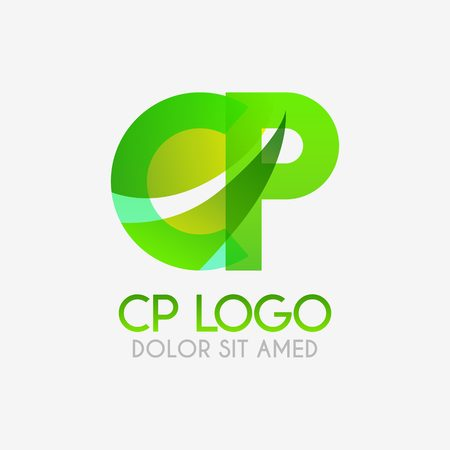 The CP logo with striking colors and gradations, modern and simple for industrial, retail, business, corporate. this PC logo made for online and offline media both web, mobile, logo, brochure, flayer