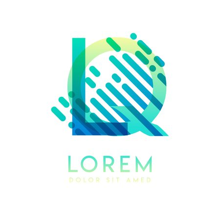 LQ logo with the theme of galaxy speed and style that is suitable for creative and business industries. QL Letter Logo design for all webpage media and mobile, simple, modern and colorful