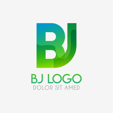 The BJ logo with striking colors and gradations, modern and simple for industrial, retail, business, corporate. this JB logo made for online and offline media both web, mobile, logo, brochure, flayer
