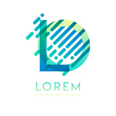 LO logo with the theme of galaxy speed and style that is suitable for creative and business industries. OL Letter Logo design for all webpage media and mobile, simple, modern and colorful Ilustração