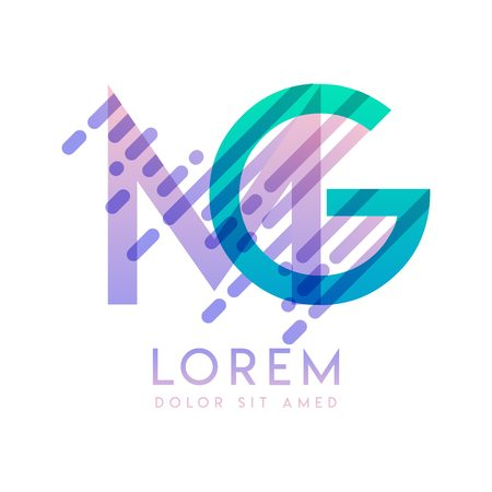 MG logo with the theme of galaxy speed and style that is suitable for creative and business industries. GM Letter Logo design for all webpage media and mobile, simple, modern and colorful