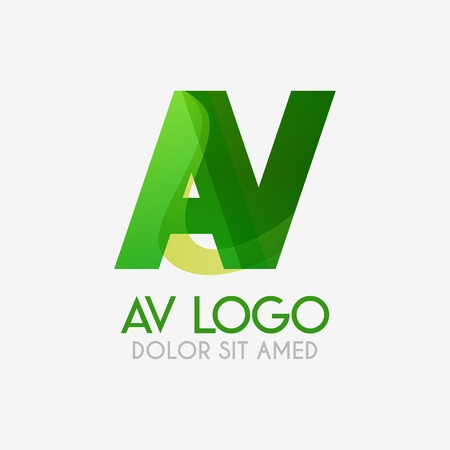 The AV logo with striking colors and gradations, modern and simple for industrial, retail, business, corporate. this VA logo made for online and offline media both web, mobile, logo, brochure, flayer