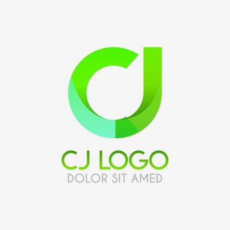 The CJ logo with striking colors and gradations, modern and simple for industrial, retail, business, corporate. this JC logo made for online and offline media both web, mobile, logo, brochure, flayer