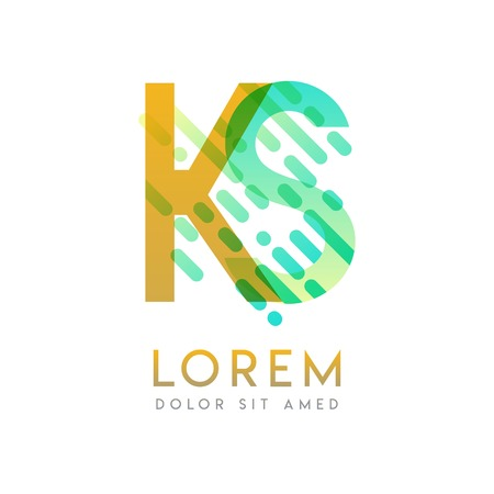 KS logo with the theme of galaxy speed and style that is suitable for creative and business industries. SK Letter Logo design for all webpage media and mobile, simple, modern and colorful
