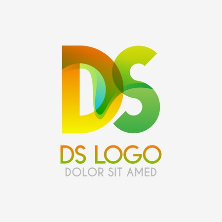 The DS logo with striking colors and gradations, modern and simple for industrial, retail, business, corporate. this SD logo made for online and offline media both web, mobile, logo, brochure, flayer