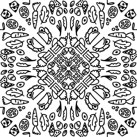 doodle food, is designed very symmetrical and simple, there are various processed foods such as pizza, tacco, american style food, various fast food. for restaurants, catering, and cooking companies