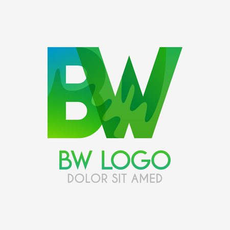 The BW logo with striking colors and gradations, modern and simple for industrial, retail, business, corporate. this WB logo made for online and offline media both web, mobile, logo, brochure, flayer