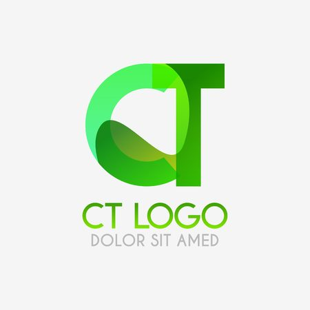 The CT logo with striking colors and gradations, modern and simple for industrial, retail, business, corporate. this TC logo made for online and offline media both web, mobile, logo, brochure, flayer