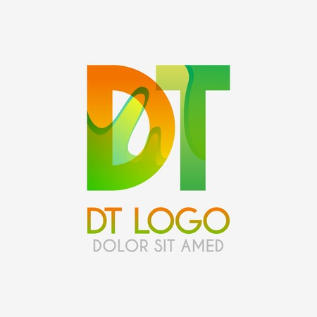 The DT logo with striking colors and gradations, modern and simple for industrial, retail, business, corporate. this TD logo made for online and offline media both web, mobile, logo, brochure, flayer