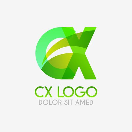 The CX logo with striking colors and gradations, modern and simple for industrial, retail, business, corporate. this XC logo made for online and offline media both web, mobile, logo, brochure, flayer
