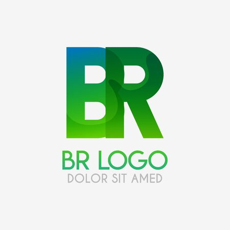 The BR logo with striking colors and gradations, modern and simple for industrial, retail, business, corporate. this RB logo made for online and offline media both web, mobile, logo, brochure, flayer