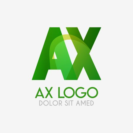 The AX logo with striking colors and gradations, modern and simple for industrial, retail, business, corporate. this XA logo made for online and offline media both web, mobile, logo, brochure, flayer