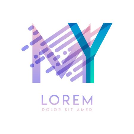 MY logo with the theme of galaxy speed and style that is suitable for creative and business industries. YM Letter Logo design for all webpage media and mobile, simple, modern and colorful