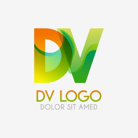 The DV logo with striking colors and gradations, modern and simple for industrial, retail, business, corporate. this VD logo made for online and offline media both web, mobile, logo, brochure, flayer
