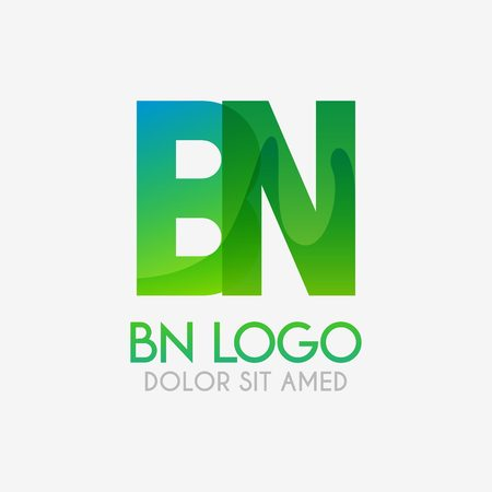 The BN logo with striking colors and gradations, modern and simple for industrial, retail, business, corporate. this NB logo made for online and offline media both web, mobile, logo, brochure, flayer Ilustração