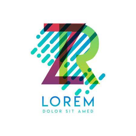 ZR logo with the theme of galaxy speed and style that is suitable for creative and business industries. RZ Letter Logo design for all webpage media and mobile, simple, modern and colorful Logó
