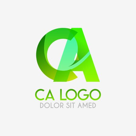 The CA logo with striking colors and gradations, modern and simple for industrial, retail, business, corporate. this AC logo made for online and offline media both web, mobile, logo, brochure, flayer