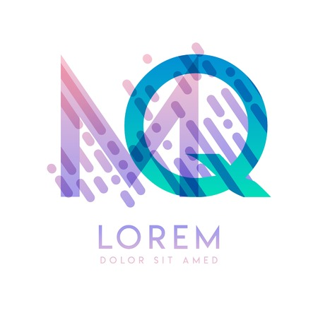 MQ logo with the theme of galaxy speed and style that is suitable for creative and business industries. QM Letter Logo design for all webpage media and mobile, simple, modern and colorful