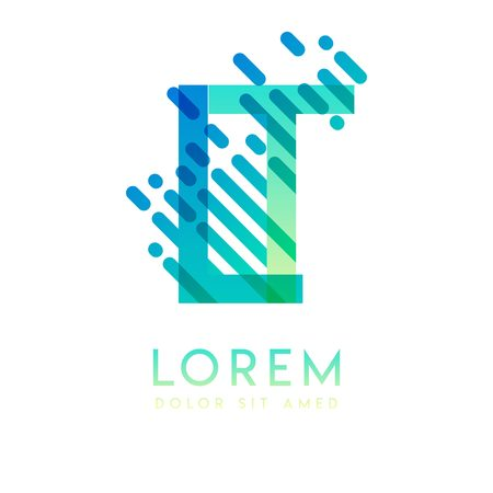 LT logo with the theme of galaxy speed and style that is suitable for creative and business industries. TL Letter Logo design for all webpage media and mobile, simple, modern and colorful Illusztráció