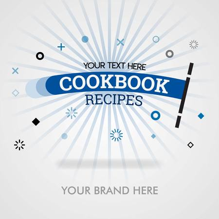 Cookbook recipes cover page. cookbook recipes in america. chinese cookbook recipes. can be for promotion, advertising, ads, marketing, cover, magazine, flyer, brochure, banner, web and food business Stockfoto - 119087651