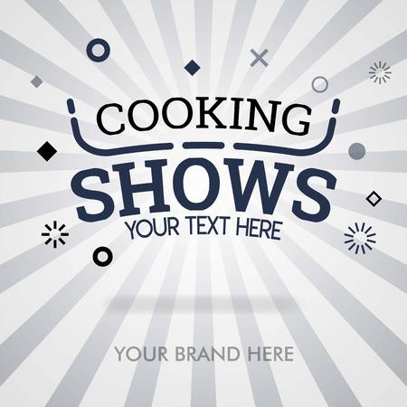 Cooking shows cover page. american cooking shows. shows about food and american traditional dish. can be for promotion,ads, marketing for print, cover, magazine, flyer, brochure, banner, web, business