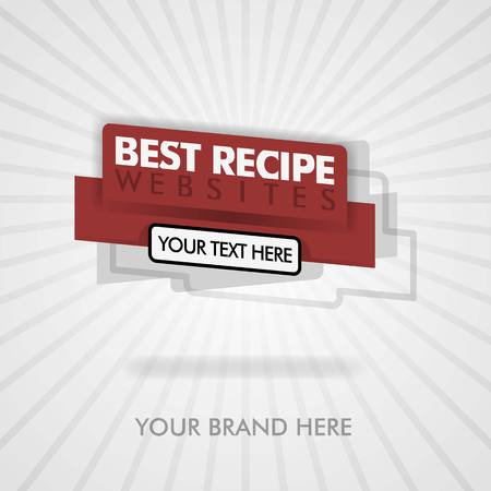 best recipe banner and cover website. best american website food recipe. can be for promotion, advertising, ads, marketing. suitable for print, cover, magazine, flyer, brochure, banner, food business