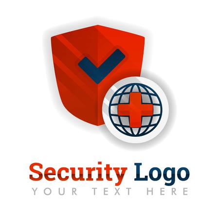 Security logo template for service industries, herbal, medicine, hospital, insurance, health, software, antivirus, construction, safety equipment, chemistry .can be for web, banner, flyer, brochure