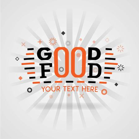 Good food design cover guide book with low fat recipes and food games to facilitate cooking