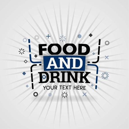 Food and Drink logo for free recipe websites
