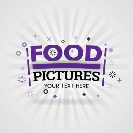 Food pictures for cover fast food recipes are designed for home cooking recipes Ilustração