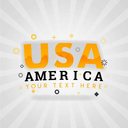 USA America writing logo for easy american's cheap recipes