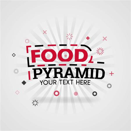 Template for food pyramid red cover book. Can be use for food advertising poster and flyer, social media post promotion, online marketing. Food industry, restaurant, printing, company, website banner