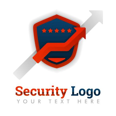 Security logo template for mobile apps providers, marketplace, ratings, e-commerce, websites, internet, online, rating agencies, value protection. can be for web, banner, flyer, brochure, mobile