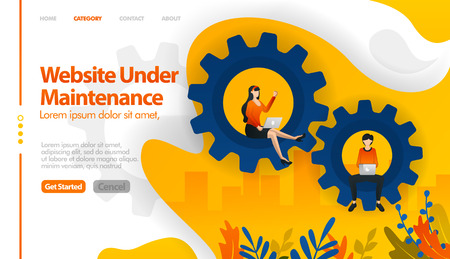 Web under maintenance, 404 not found, web in sales, web in repair vector illustration concept can be use for, landing page, template, ui ux, web, mobile app, poster, banner, website