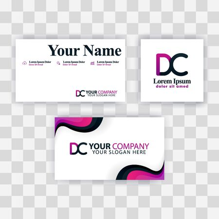 Clean Business Card Template Concept. Vector Purple Modern Creative. CE Letter logo Minimal Gradient Corporate. EC Company Luxury Logo Background. Logo E for print, marketing, identity, identification