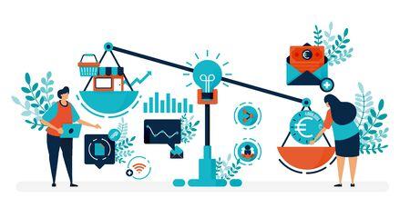 Venture Capital zur Gründung von Unternehmen und Unternehmen. Auf der Suche nach Finanzierung und Investoren, um ein Startup zu gründen. Flache Vektorgrafik für Landing Page, Web, Website, Banner, mobile Apps, Flyer, Poster Vektorgrafik