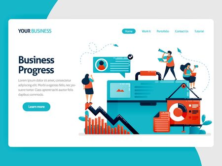 Banner business illustrations for planning presentations. Strategy to increase business growth. Looking for ideas in business. Flat cartoon character for landing page, website, mobile, flyer, poster